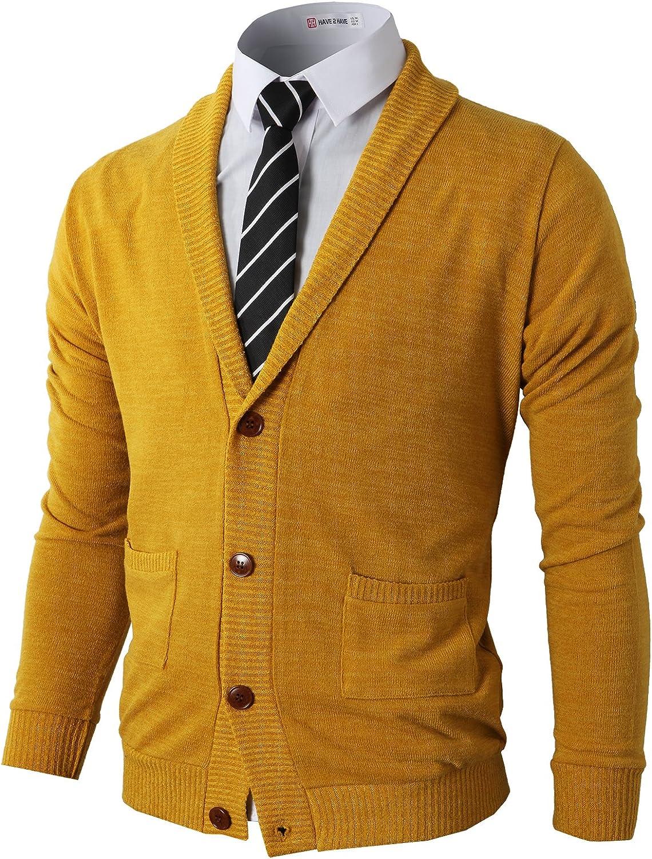 H2H Mens Casual Seasonal Wrap Introduction Comfortable shopping Fit So Cardigan Shawl Sweater Collar