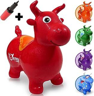 WALIKI Bouncy Horse Hopper | Benny The Jumping Bull Riding Hoppy Horse for Kids | Hopper Horse, Red