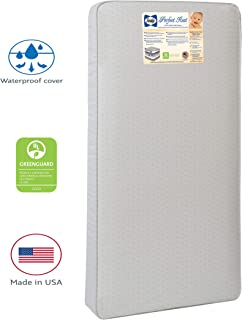 """Sealy Baby Perfect Rest Waterproof Standard Toddler & Baby Crib Mattress - 150 Extra Firm Coils, 51.7"""" x 27.3"""