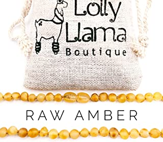 Raw Amber Teething Necklace for Babies (Unisex) Teething Pain Relief - Certified Genuine Baby Baltic Amber Necklace (11 Inches, Honey)