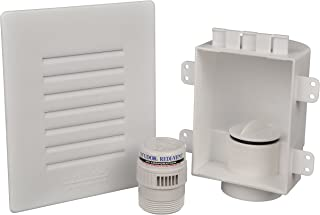 Studor 20381 Recessed Air Admittance Valve Box with Redi-Vent and Grill