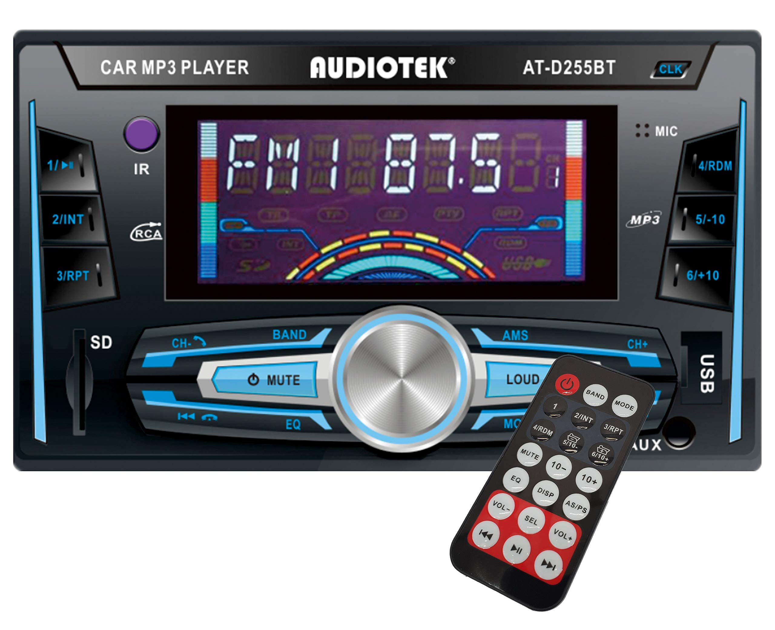 Aux 2-DIN Digital Media Receiver Car Stereo with Bluetooth USB and with Remote