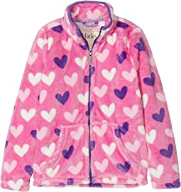 Multi Hearts Fuzzy Fleece Zip-Up (Toddler/Little Kids/Big Kids)