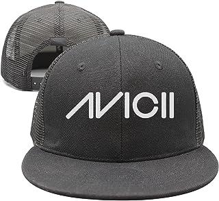 SJSNBZ RIP_Avicii_Tim_Bergling_Music Mens Black Printed Graphic Mesh Snapback Cap