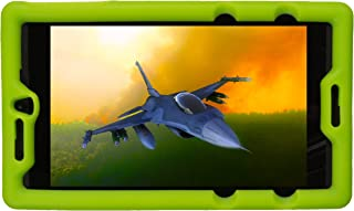 Bobj Rugged Case for NVIDIA Shield Tablet K1 - BobjGear Custom Fit - Patented Venting - Sound Amplification - BobjBounces Kid Friendly (Gotcha Green)