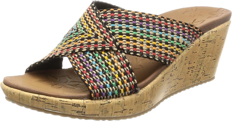 Skechers Womens Beverlee Delighted Wedge Sandal