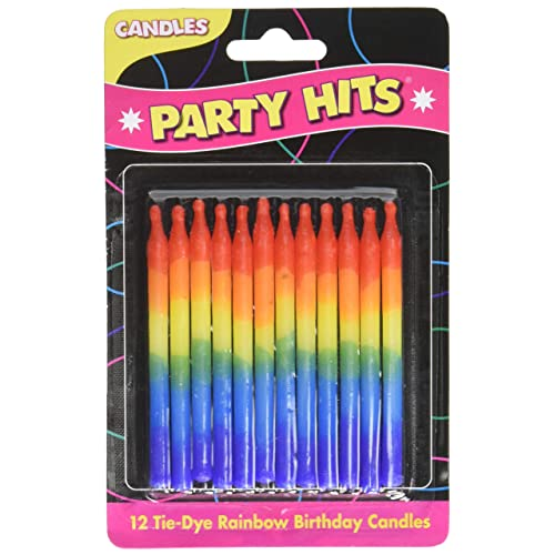 Rainbow Color Cake Candles