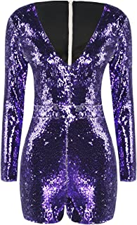 HaoDuoYi Womens Mardi Gras's Sparkly Sequin V Neck Party...