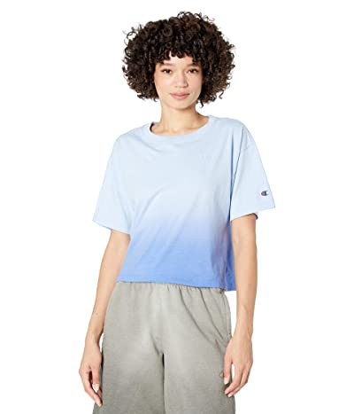 Champion The Cropped Tee Ombre (Deep Forte Blue Ombre) Women