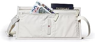 Swiss Gear Double Pocket Money Belt, Ivory (Off-White) - WJ0983GL-Ivory-One Size
