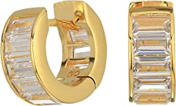 Cole Haan - Baguette Huggie Earrings