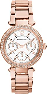 Michael Kors Mini Parker Women's Mother Of Pearl Dial Stainless Steel Analog Watch - MK5616