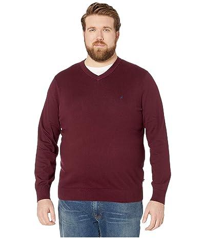 Nautica Big & Tall Big Tall V-Neck Navtech Knit Sweater (Royal Burgundy) Men
