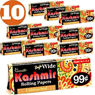Kashmir Unbleached Single Wide Rolling Papers-Made in The USA (10)