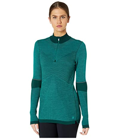 Smartwool Intraknit Merino 250 Thermal 1/4 Zip (Peacock) Women