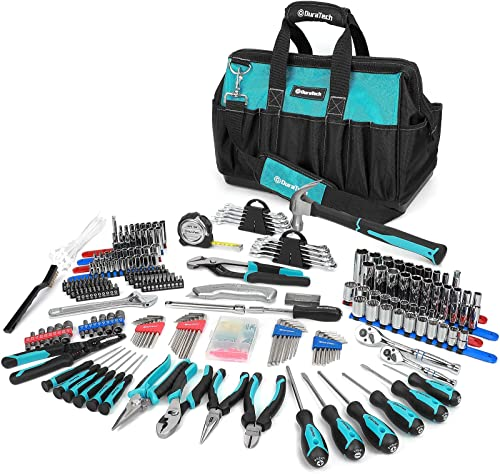 high quality DURATECH 269-Piece Home Repair Tool Set, Daily Use Mechanics Hand discount Tool Kit with 2021 Wide Open Mouth Tool Bag, Perfect for DIY, Home Maintenance sale