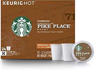 Starbucks Pike Place Roast Medium Roast Single Cup Coffee for Keurig Brewers, 24 Count (Pack of 4)