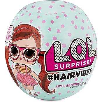 L.O.L. Surprise! Poupées collectionnables pour filles – Avec 15 surprises et des perruques interchangeables – Poupées #Hairvibes