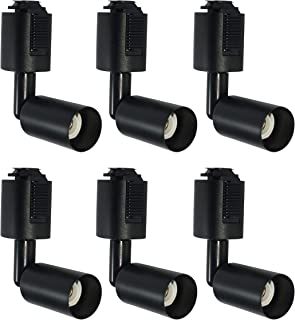 ダクトレール用スポットライト E11口金 電球なし ライティングバー用照明器具セット配線ダクトレール用 E11 LEDスポットライト 天井照明 照射角度調節可能 黑い 6個セット