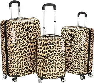 Rockland Luggage 3 Piece Upright Set, Leopard, Medium