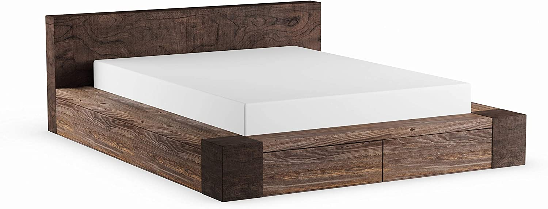 Furniture of America Shaylen II Rustic Natural Tone Low Profile Storage Bed California King