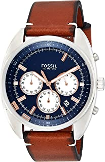 Fossil Casual Watch Analog Display For Men Ch3045, Brown Band