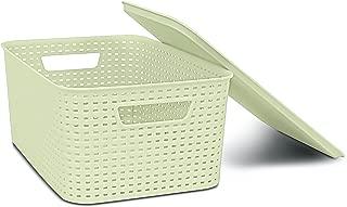Best plastic wicker baskets with lids Reviews