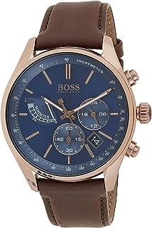 Hugo Boss Men's Blue Dial Color Leather Strap Watch - 1513604