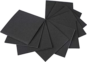 Adhesive Foam Padding, Self Stick Weather Stripping Foam Strips with Adhesive Black Rubber Sheet 4 Inch Long X 4 Inch Wide X 1/8 Thickness(10Pcs)