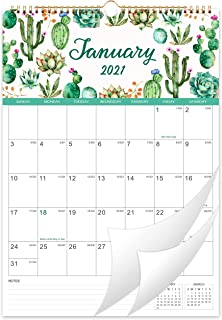 "2021 Calendar - 12 Months Wall Calendar 2021, 12"" x 17"", Jan 2021 -Dec 2021, Flexible with Julian Date, Colorful Monthly C..."