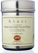 Khadi Mauri Herbal Rose Sandal Face Pack - Skin Nourishment, Oil Control & Anti Tan - 100 g