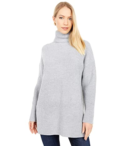 WAYF Culver Turtleneck Sweaterdress (Heather Grey) Women