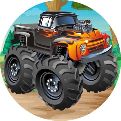 Black Machine Offroad Monster Truck Sound Button