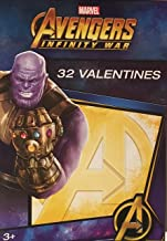 Paper Magic Marvel 32 Valentines Avengers Infinity War Thanos Cards