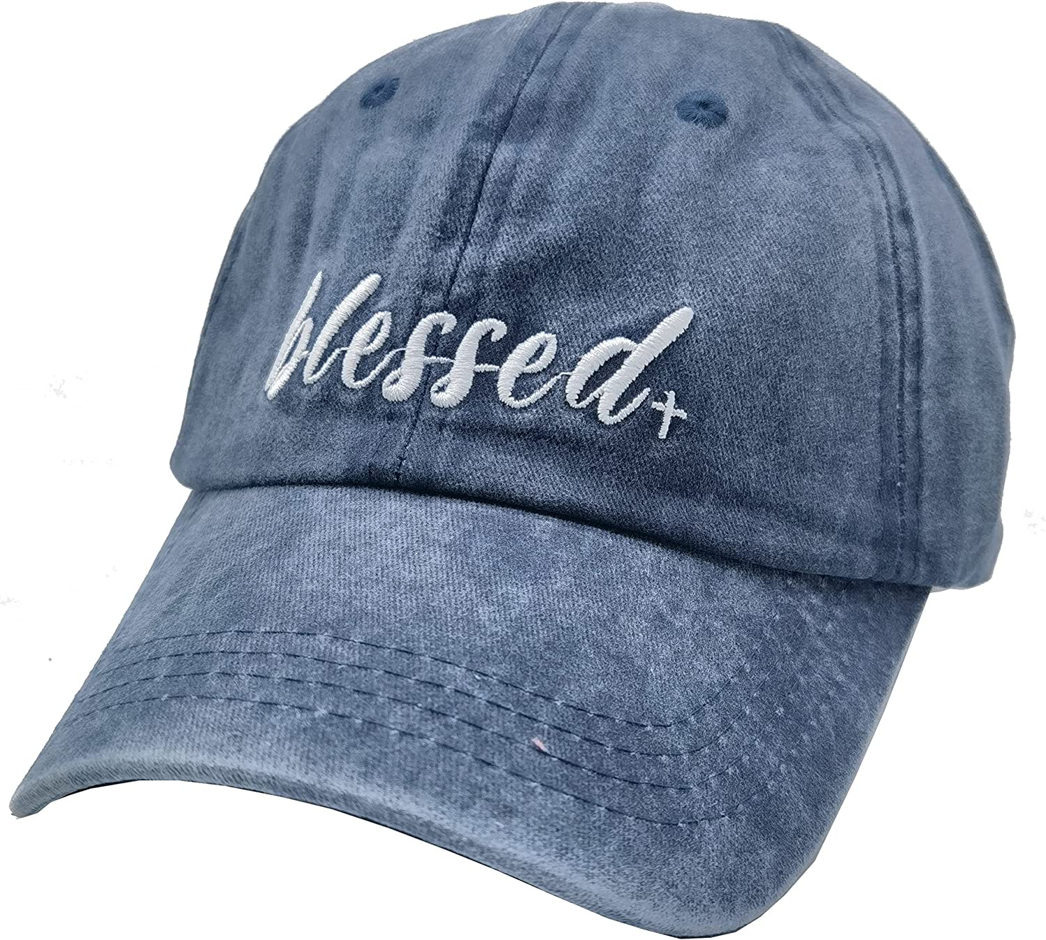 Waldeal Women's Embroidered Blessed Baseball Cap Adjustable Distressed Vintage Summer Faith Dad Hat