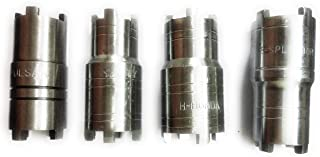 MEC 4Pieces Set Clutch Nut Spanner Repairing Tool for Bajaj Pulsar, TVS Star City/XL, Hero Honda, Super Splendor Motorbikes Made on CNC Machine Hardened and Tempered Steel