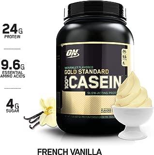 OPTIMUM NUTRITION GOLD STANDARD 100% Micellar Casein Protein Powder, Naturally Flavored French Vanilla, 2 Pound