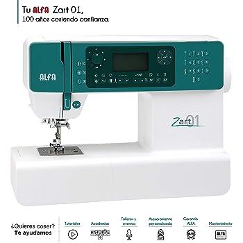 Alfa ZART01-Maquina de Coser electrónica, Blanco: Amazon.es: Hogar