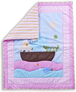 Dream On Me Sea Friends 5 Piece Reversible Portable Crib Bedding Set