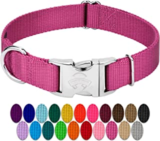 Country Brook Design - Premium Nylon Dog Collar with Metal Buckle - Vibrant 24 Color Selection
