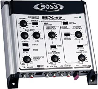 Boss Audio Systems Bx45 2 3 Way Pre-amp Car Electronic Crossover - Variable High Pass Filter 40 Hz - 8 Khz Selectable Cros... photo