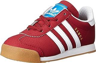 adidas Originals Samoa I Fashion Sneaker (Infant/Toddler), Collegiate Burgundy/Running White/Metallic/Gold, 5.5 M US Toddler