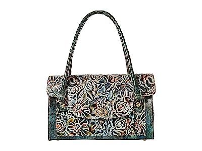 Patricia Nash Sanabria Satchel (Turquoise/Multi) Handbags