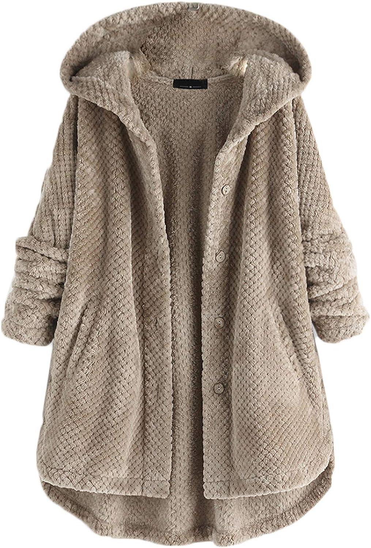 Ranking TOP12 Andongnywell Women Coats Lapel Fuzzy Fashion Over item handling Fleece Overcoats Op