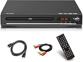 DVD Player,All Region Free DVD CD Recorded Discs Player with HDMI & AV Output , USB Port, Remote Control,(un Support blueray)