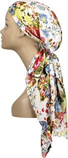 Atara Large Head Wrap Scarf -Soft Lightweight Easy Tie Square Chemo Scarves -by