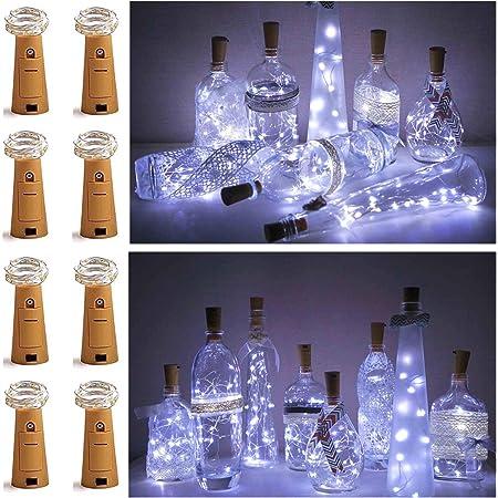 Colorful Wine Bottle Cork Shape Lights 2M 20LED Night Lights String Fairy A8F4