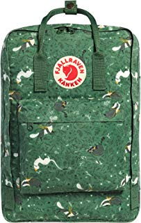 "Fjallraven - Kanken Art Laptop 17"" Special Edition Backpack for Everyday, Green Fable"