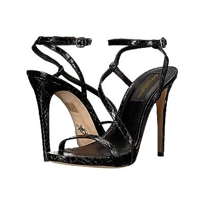 Donna Karan Stra Ankle Strap Sandal (Black) Women