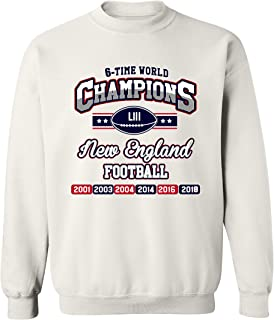 New World Champion 6-Time New England Football DT Crewneck Sweatshirt